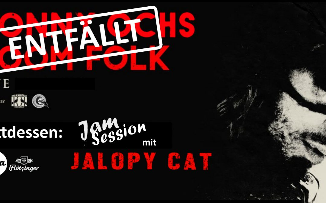Abgesagt: Jalopy Cat – LIVE (+Jam Session); Conny Ochs entfällt