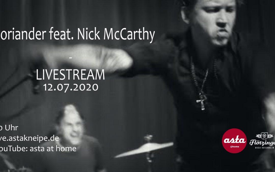 Koriander feat. Nick McCarthy – Livestream // asta at home